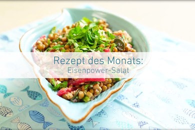 Recipe of the month: Iron-power salad with lentils